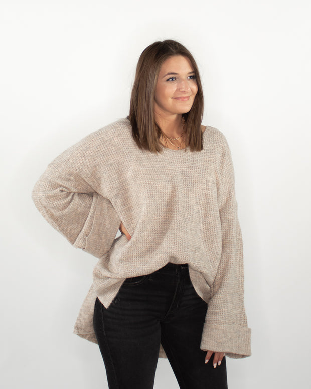 Just Tonight Sweater - Taupe