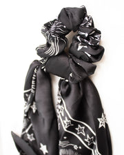 Hair Scarf - Black Paisley