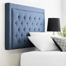 Load image into Gallery viewer, Rectangle Diamond Tufted Upholstered Headboard