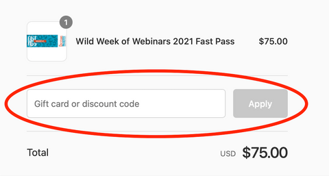 How to apply a discount code
