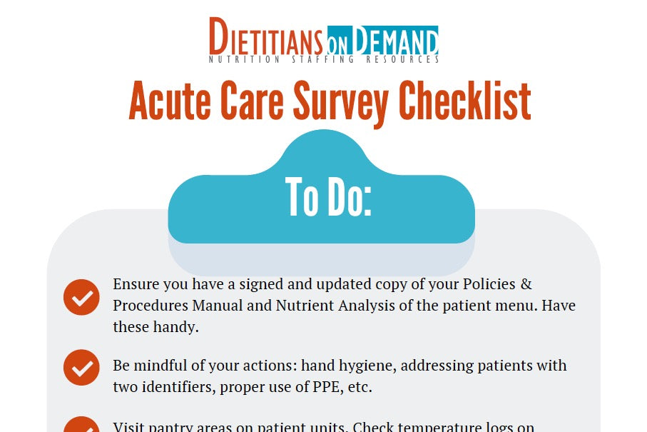 Acute Care Survey Checklist | Infographic