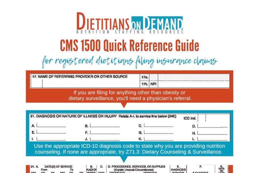 CMS 1500 Quick Reference Guide | Infographic