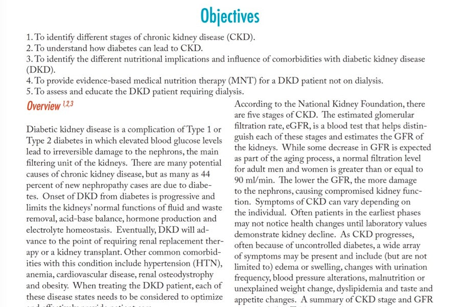 Diabetic Kidney Disease: An Adult Case Study | 1 CPEU