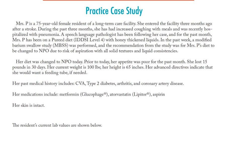 Tube Feeding in Long-Term Care Case Study | 0.5 CPEU