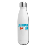 Dietitian Fuel Insulated Water Bottle - white