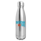 Dietitian Fuel Insulated Water Bottle - silver