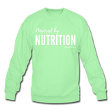 Powered by Nutrition Crewneck Sweatshirt - lime