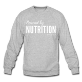 Powered by Nutrition Crewneck Sweatshirt - heather gray