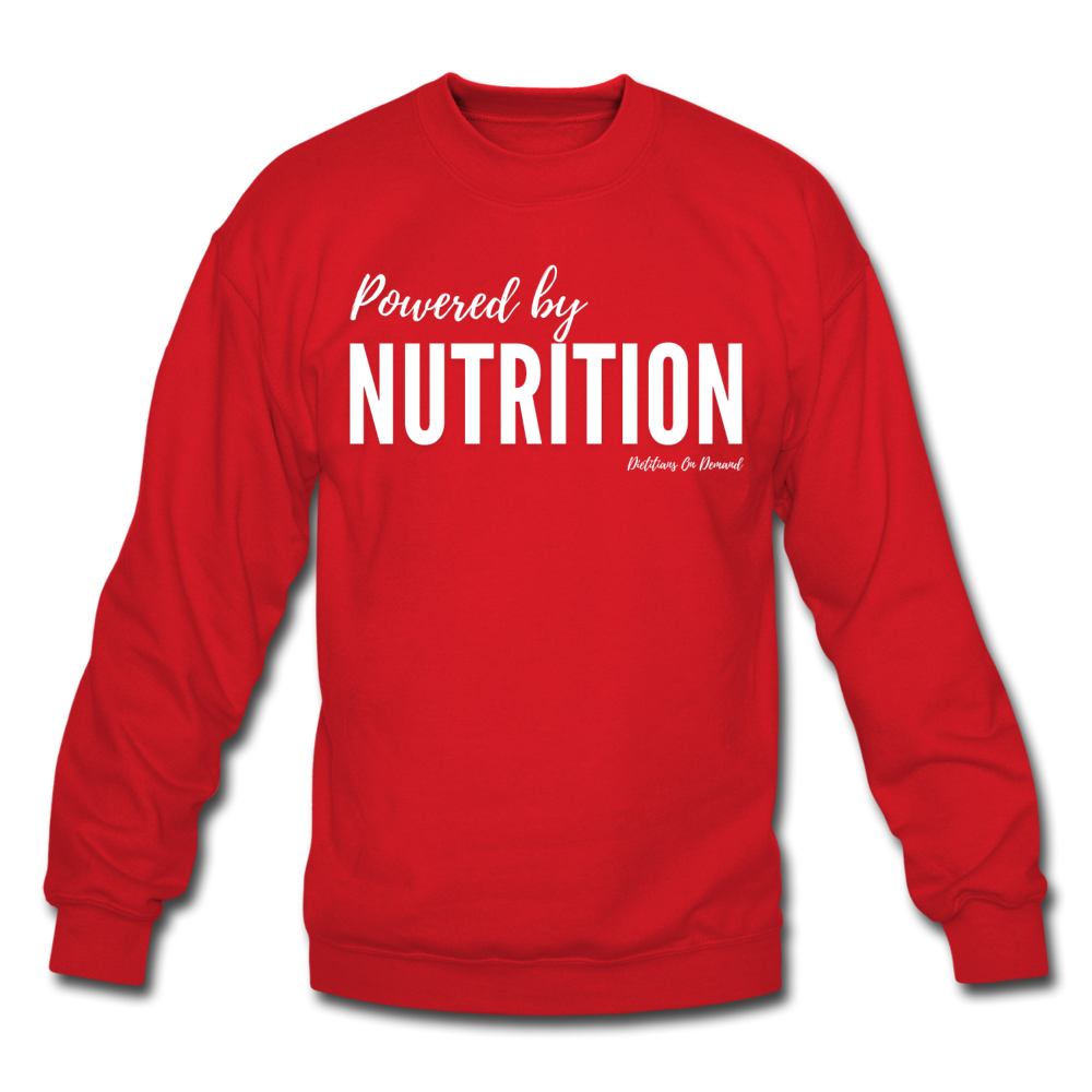 Powered by Nutrition Crewneck Sweatshirt - red