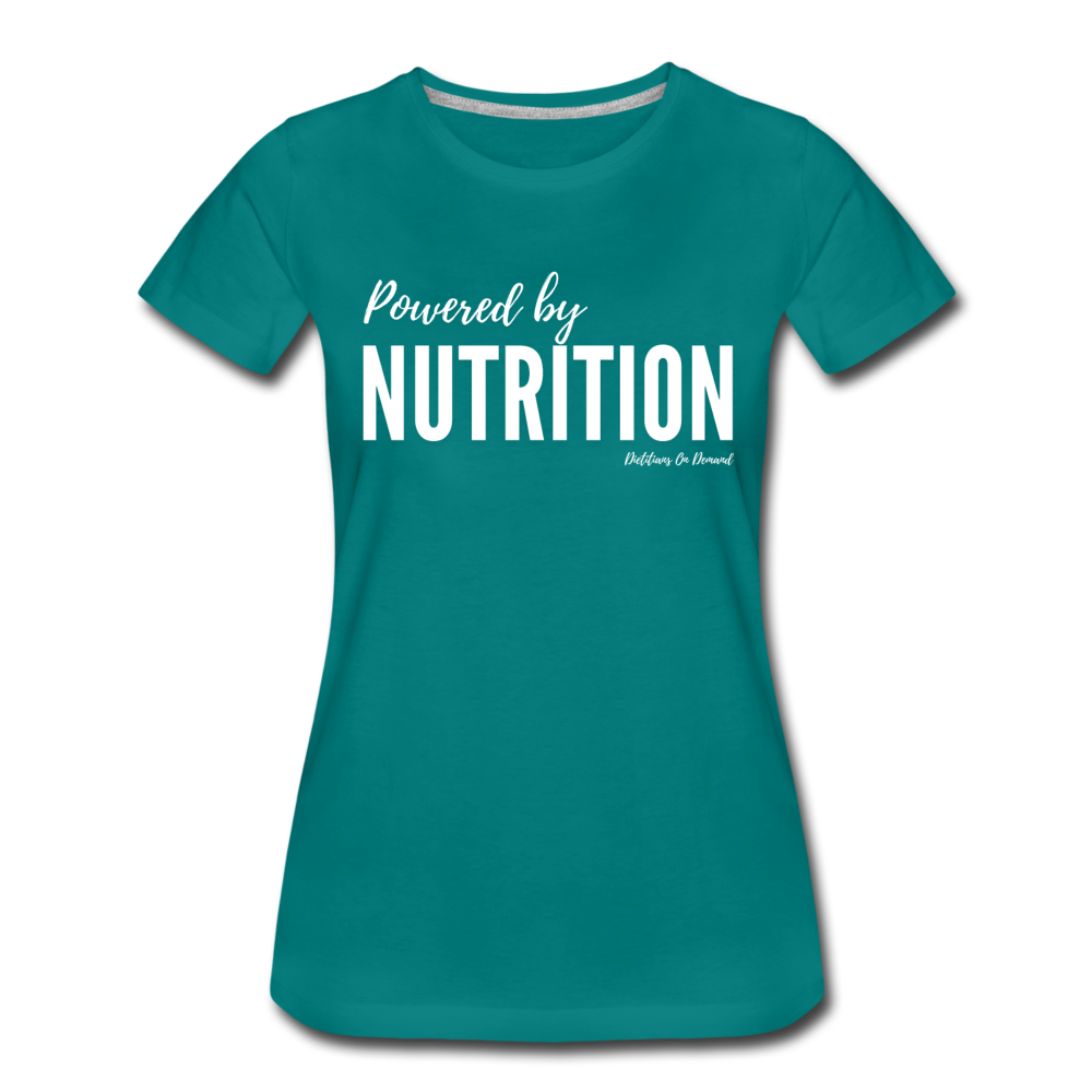 Powered By Nutrition Tshirt - teal