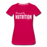 Powered By Nutrition Tshirt - dark pink