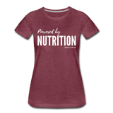 Powered By Nutrition Tshirt - heather burgundy