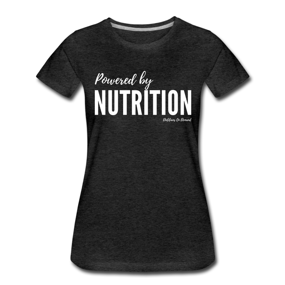 Powered By Nutrition Tshirt - charcoal gray