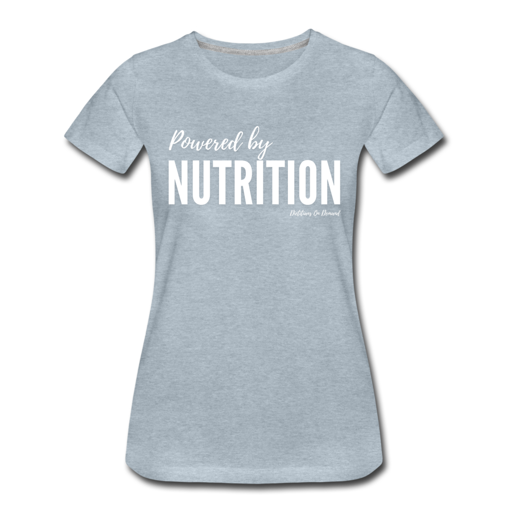 Powered By Nutrition Tshirt - heather ice blue