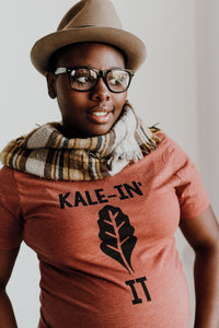 Kale-In It (Burnt Red T-shirt)
