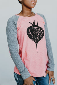 Make Beats Not War (Pink/Grey Long Sleeve)