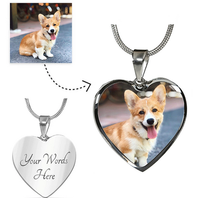 Heart Shaped Custom Pet Necklace - Just For Dogs