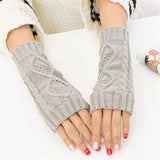 Eira Fingerless knitted Gloves