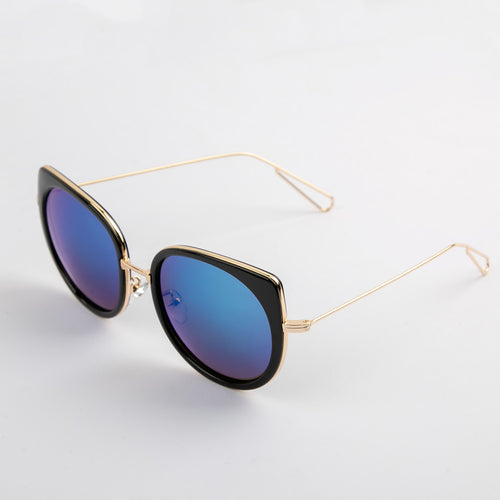 Rainbow Cat-eye Sunglasses With Protective Case (Vol.2)