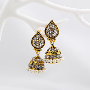 Antique Compact Jhumki set