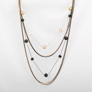 Black & Gold Multi Chain Maala