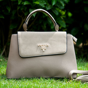 Prada Premium Khaki Leather Bag