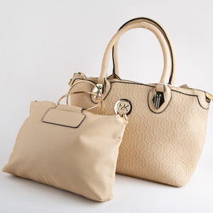 MK Set of two Bags (Off White)