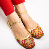 White Kundan Anklet Pair (Vol.2)