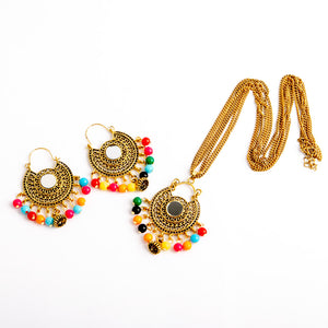 Fun In The Sun Necklace & Earrings Set