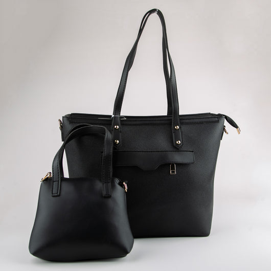 Clementine Set of Two Hand Bags (Black)