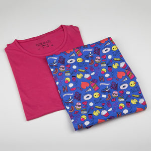 The Chic Emoji Sleeping Suit Set