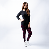 Plain Black Tee & Legging Bundle Deal