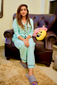 Hipster Pattern Sleeping Suit Set