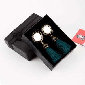 Mirror Tassel Earrings (8 Colours)