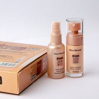 Kiss Beauty Dream Satin Mist and Liquid Foundation Set