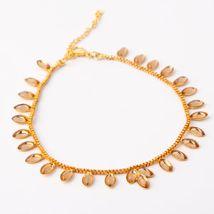 Natural Blends Kundan Anklet Pair (Champagne)
