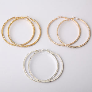 Tucked Away Formal Hoop Earrings