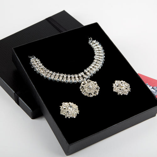 Crystal Formal Necklace and Earrings Set