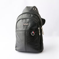 Sling Crossbody Unisex Leather Backpack