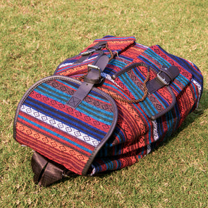 Tribal Printed Backpack (Red)