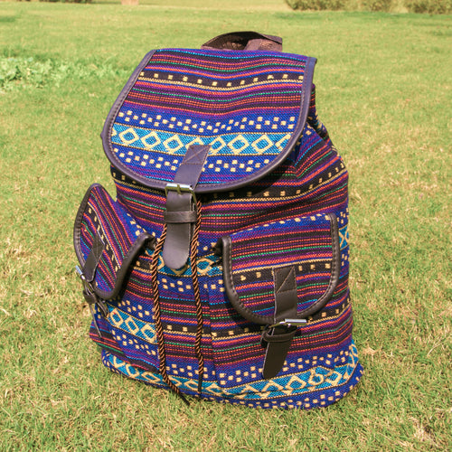Tribal Printed Backpack (Purple)