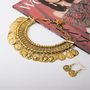 Afghan Style Necklace & Earrings Set (Ver.3)