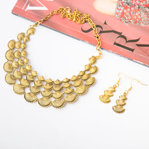 Afghan Style Necklace & Earrings Set (Ver.4)