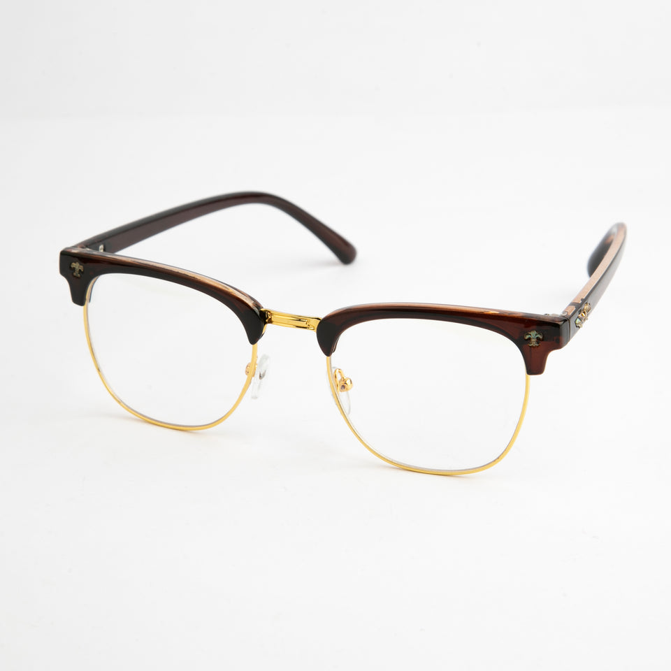 Brown Scientia Spectacles With Protective Case