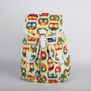 Multi colour Owl Backpack (Lemon)