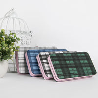 Tartan Check Wallets and Card Organizer