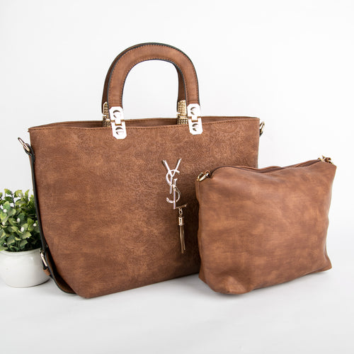 YSL Dual Bag Set (Brown)