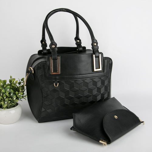 Origami Bag With Clutch (Black)