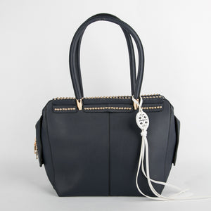 Gold Studded Bag (Navy Blue)