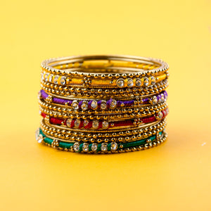 Chromatic Festive Multicolor Bangle Set